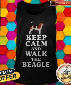 Top Keep Calm And Walk The Beagle Tank Top