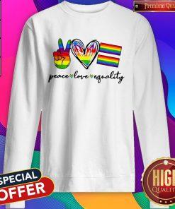Peace Love Equality LGBT Sweatshirt