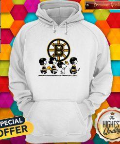 Peanuts Characters Boston Bruins V- neck