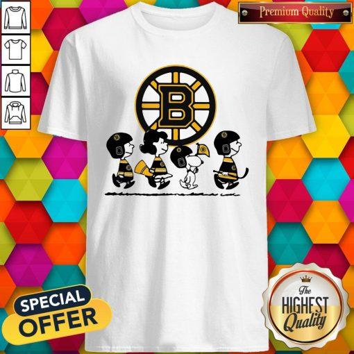 Peanuts Characters Boston Bruins Shirt
