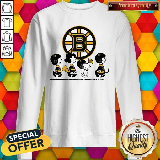 Peanuts Characters Boston Bruins weatshirt