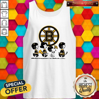 Peanuts Characters Boston Bruins Tank Top