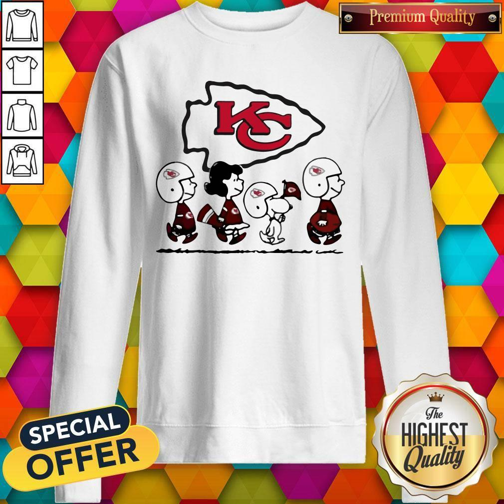 Peanuts Characters Kansas City Chiefs weatshirt