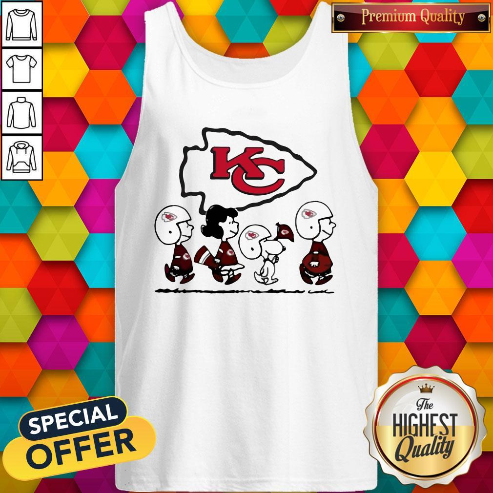 Peanuts Characters Kansas City ChiefsTank Top