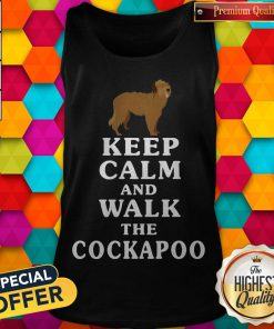 Premium Keep Calm And Walk The Cockapoo Tank Top