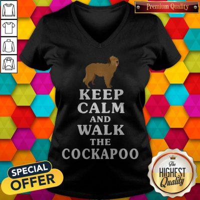 Premium Keep Calm And Walk The Cockapoo V- neck