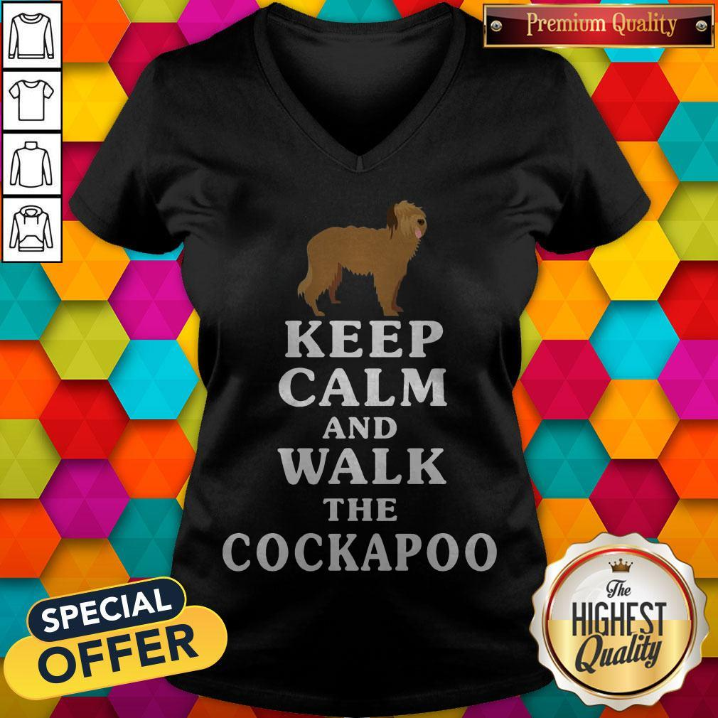 Premium Keep Calm And Walk The Cockapoo V- neck