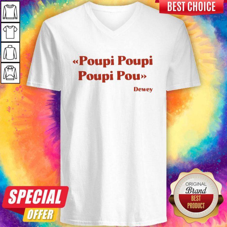 Premium Triple Poupi Poupi Poupi Pou Dewey V- neck