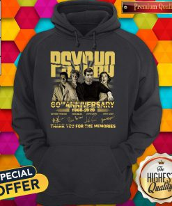 Psycho 60th Anniversary 1960 – 2020 Signature Thank You For The Memories Hoodiea