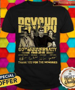 Psycho 60th Anniversary 1960 – 2020 Signature Thank You For The Memories Shirt