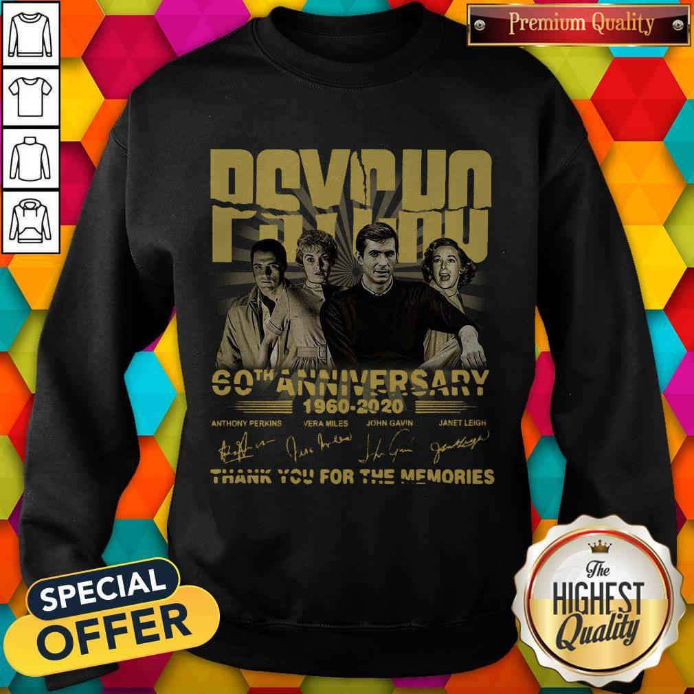 Psycho 60th Anniversary 1960 – 2020 Signature Thank You For The Memories weatshirt