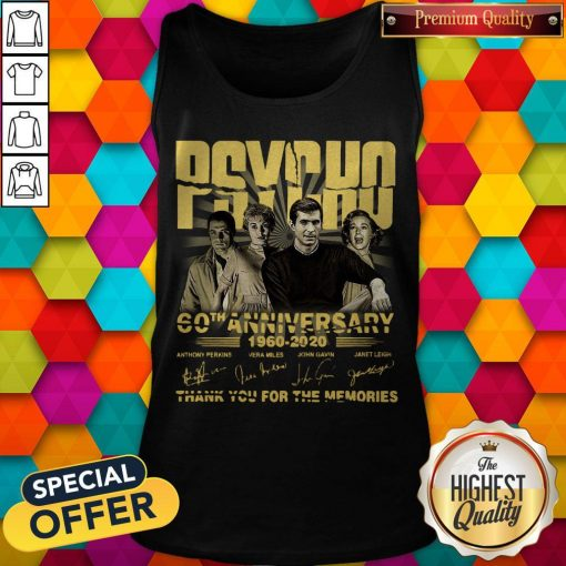 Psycho 60th Anniversary 1960 – 2020 Signature Thank You For The Memories Tank Top