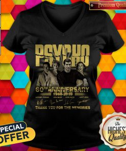Psycho 60th Anniversary 1960 – 2020 Signature Thank You For The Memories V- neck