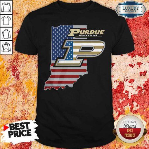 Purdue Boilermakers American Flag Shirt