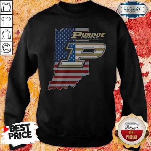 Purdue Boilermakers American Flag weatshirt