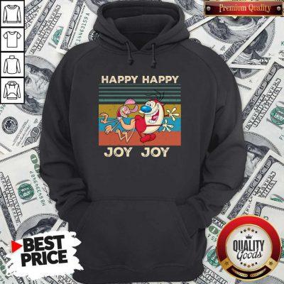 Ren And Stimpy Happy Happy Joy Joy Vintage Hoodiea