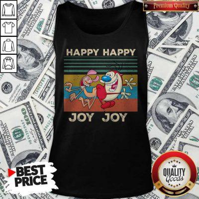 Ren And Stimpy Happy Happy Joy Joy Vintage Tank Top