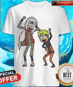 Rick And Morty Mashup Naruto And Jiraiya Shirt
