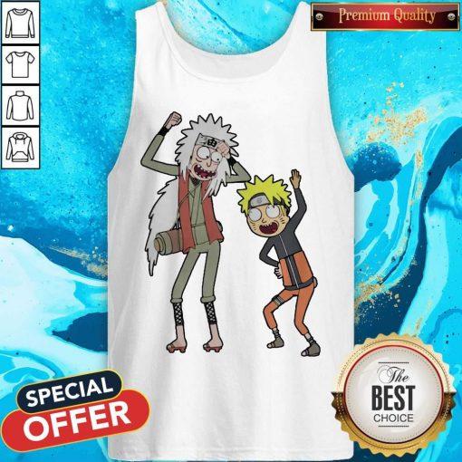 Rick And Morty Mashup Naruto And Jiraiya Tank Top