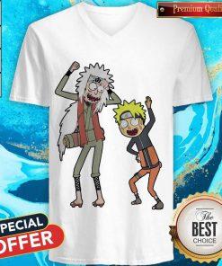 Rick And Morty Mashup Naruto And Jiraiya V- neck