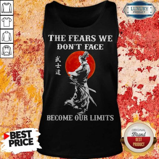 Samurai The Fears We Don't Face Become Our Limits Sunset Tank Top