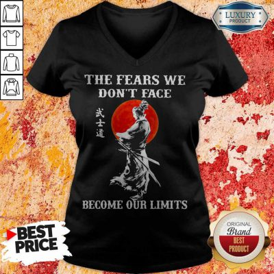 Samurai The Fears We Don't Face Become Our Limits Sunset V- neck