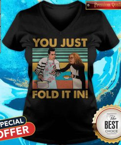 Schitts Creek Fold You Just Fold It In Vintage V- neck