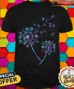 Star wars Characters Dandelion flowers Shirt