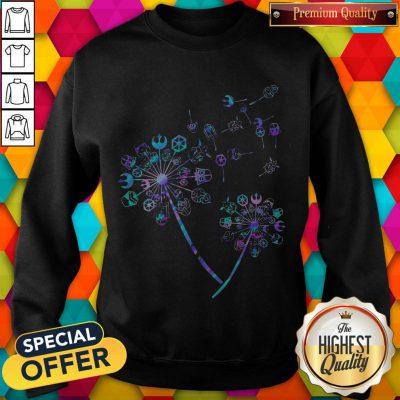 Star wars Characters Dandelion flowers weatshirt