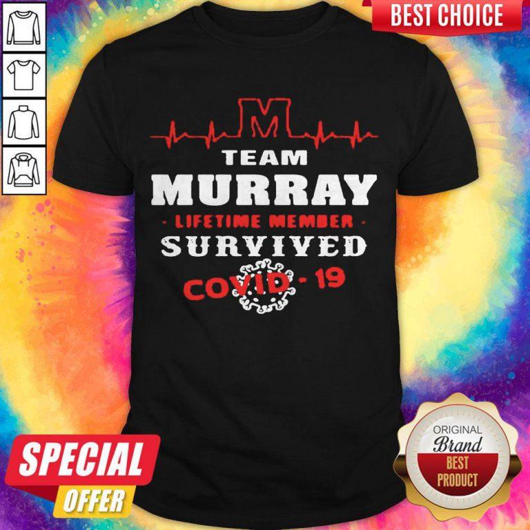 Team Murray Lifetime Member Survived Covid19 2020 Shirt
