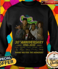 The Fresh Prince 30th Anniversary 1990 2020 Thank You For The Memories Signatures weatshirt
