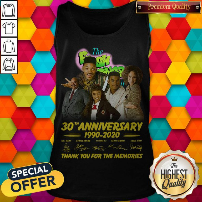 The Fresh Prince 30th Anniversary 1990 2020 Thank You For The Memories Signatures Tank Top