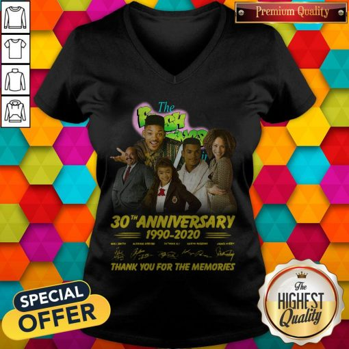 The Fresh Prince 30th Anniversary 1990 2020 Thank You For The Memories Signatures V- neck