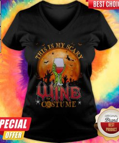 This Is My Scary Wine Costume Halloween V- neck