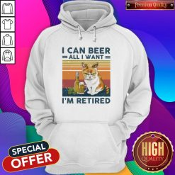 Top Cat I Can Beer All I Want I'm Retired Vintage Hoodie