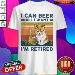 Top Cat I Can Beer All I Want I'm Retired Vintage Shirt