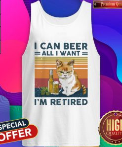 Top Cat I Can Beer All I Want I'm Retired Vintage Tank Top