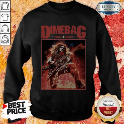 Top Dimebag 1966 And 2004 weatshirt