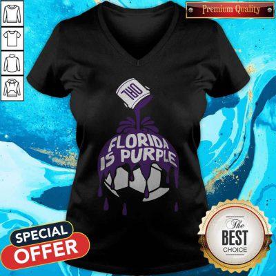 Top Florida Is Purple V- neck