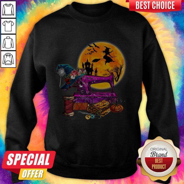 Top Halloween Sewing weatshirt