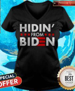 Top Hidin' From Biden 2020 Vote V- neck