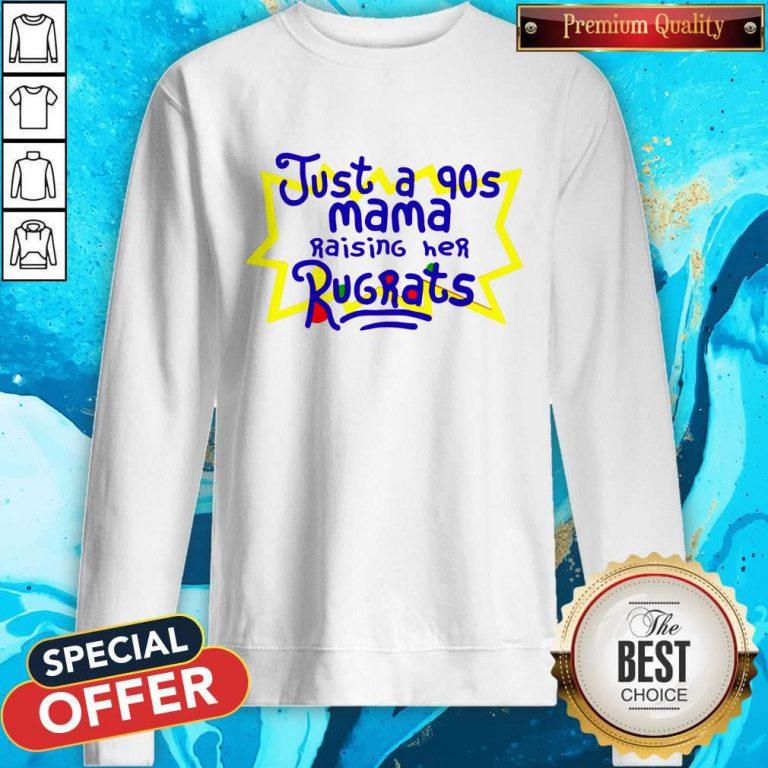 Top Just A 90s Mama weatshirt