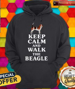 Top Keep Calm And Walk The Beagle Hoodie