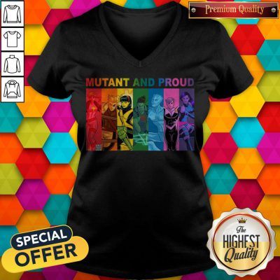Top Lgbt Mutant And Proud Pin On Xmen V- neck