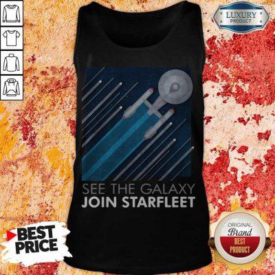 Top Star Trek See The Galaxy Join Starfleet Tank Top