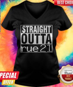 Top Straight Outta Rue 21 V- neck