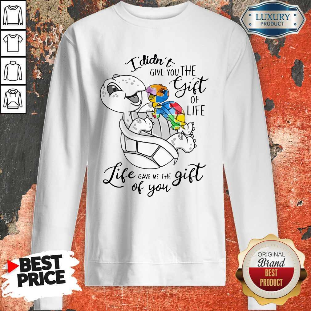 Turtle I Didn't Give You The Gift Of Life Life Gave Me The Gift Of You Sweatshirt