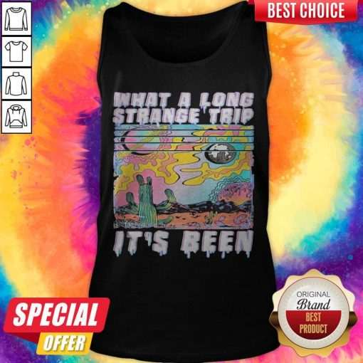 What A Long Strange Trip Its Been Vintage Tank Top