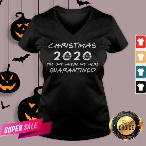 2020 Christmas Covid Quarantine V-neck