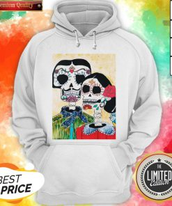 Amor Couple Sugar Skulls Day Of The Dead Hoodie